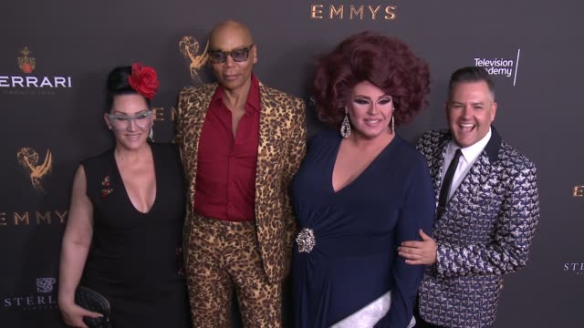 RuPaul Charles Ross Mathews Michelle Visage and Delta Work at the Stars Celebrate the 69th Emmy Awards Season at the Television Academy's Performers...