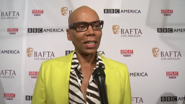 INTERVIEW RuPaul on winning an Emmy on supporting the BAFTA tea party on a TV show in the works and an ideal role in the future at the BBC America...