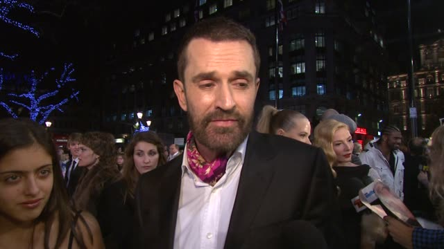 stockvideo's en b-roll-footage met rupert everett on david tennant on inviting camilla parkerbowles to the premiere of the first st trinian's movie on miss fritton's new dog on... - rupert everett