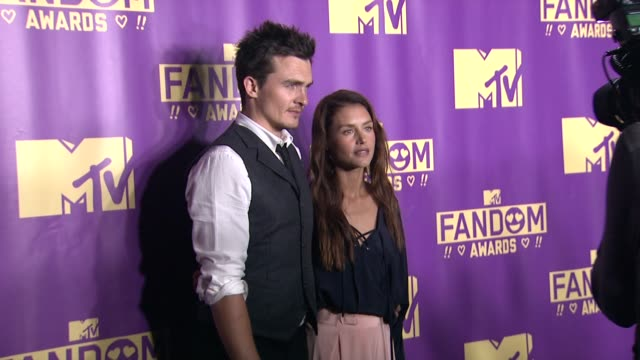 rupert friend hannah ware at comiccon international 2015 mtv fandom awards on july 09 2015 in san diego california - mtv1 stock-videos und b-roll-filmmaterial