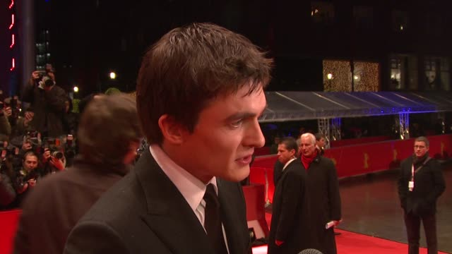 Rupert Friend on what he learned from Michelle Pfeiffer includes shot of Michelle Pfeiffer at the 59th Berlin Film Festival Cheri Premiere at Berlin