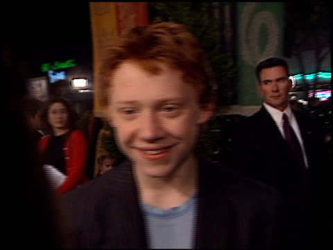 rupert grint at the 'harry potter and the chamber of secrets' premiere on november 14 2002 - potter stock videos & royalty-free footage