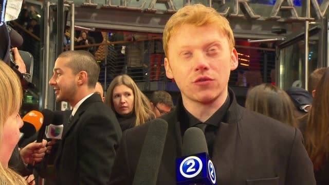 stockvideo's en b-roll-footage met interview rupert grint on being in berlin 'the necessary death of charlie countryman' premiere bmw at the 63rd berlinale international film festival... - internationaal filmfestival van berlijn