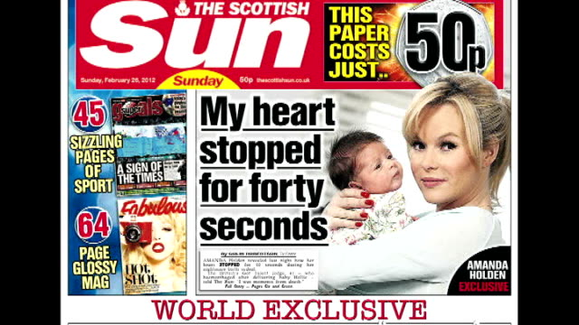rupert murdoch launches 'sun on sunday' newspaper scotland close shots front page of first edition of scottish 'sun on sunday' - rupert murdoch stock videos and b-roll footage