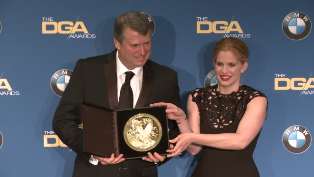 j rupert thompson anna chlumsky at 69th annual directors guild of america awards in los angeles ca - directors guild of america awards stock videos & royalty-free footage