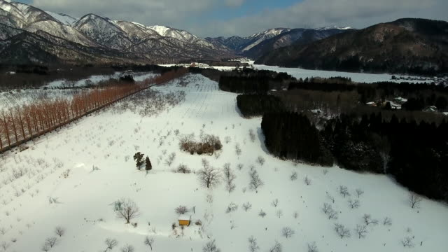 rural atmosphere in winter - satoyama scenery stock videos and b-roll footage