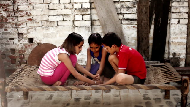 Rural children playing