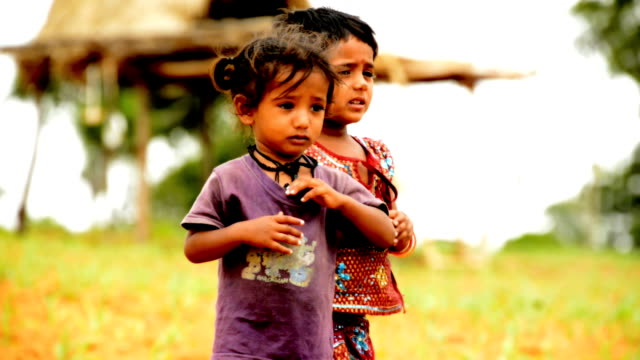 rural children - indian subcontinent ethnicity stock videos & royalty-free footage