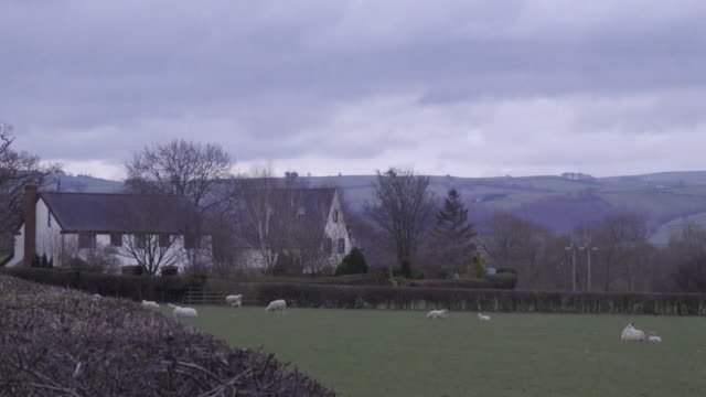 rural communities isolated during coronavirus crisis in powys wales - remote location stock videos & royalty-free footage