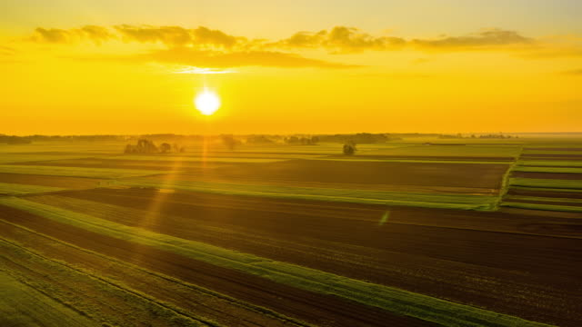 h/l rural country at sunrise - farm stock videos & royalty-free footage