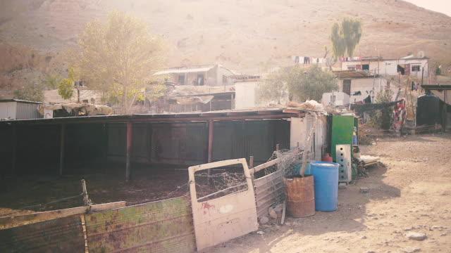 rural desert village - hebron west bank stock videos & royalty-free footage