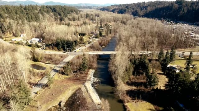 rural highway over river in renton washington - washington state stock videos and b-roll footage