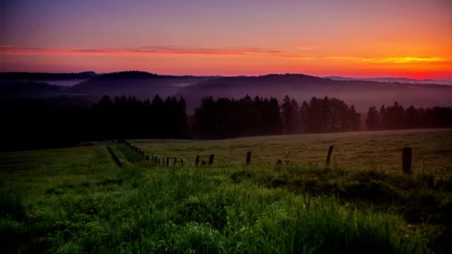 CRANE UP: Rural Landscape at Sunrise