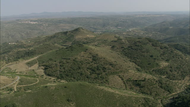AERIAL WS Rural landscape / Guarda, Portugal