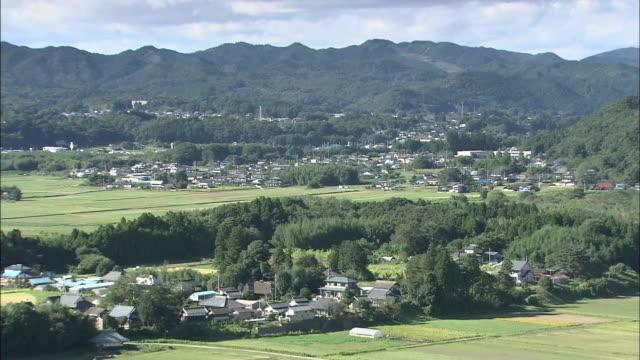 rural landscape in japan - satoyama scenery stock videos & royalty-free footage