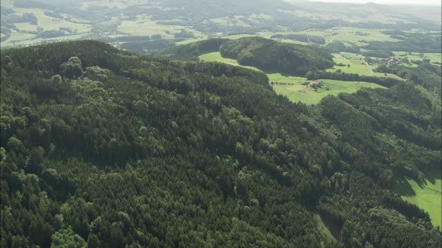 aerial rural landscape, salzburg, austria - österreich stock-videos und b-roll-filmmaterial