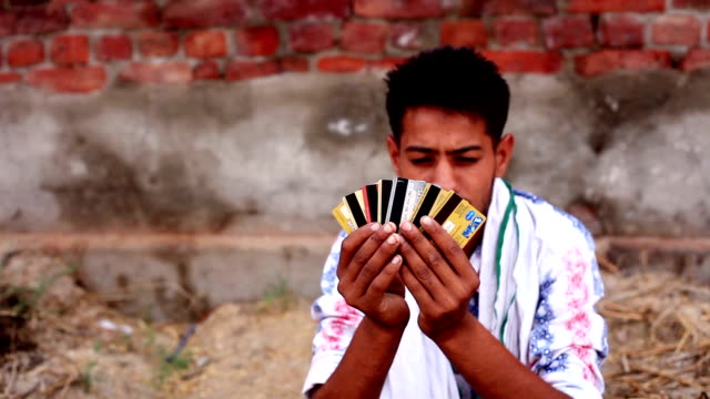 rural men holding credit cards - credit card stock videos and b-roll footage
