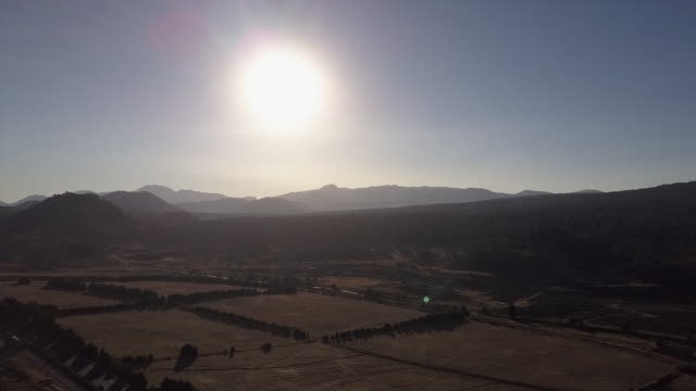 rural mexico landscape, wide aerial - wide stock-videos und b-roll-filmmaterial