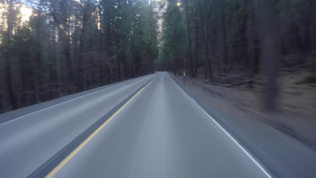 rural mountain roads in yosemite national park during winter. - 50 seconds or greater stock videos & royalty-free footage