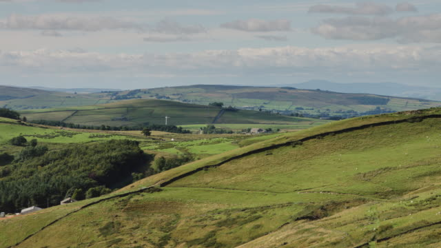 rural pennine landscape - lancashire stock videos & royalty-free footage