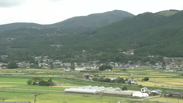 rural scapes of yufu city, oita, japan - oita city stock videos & royalty-free footage