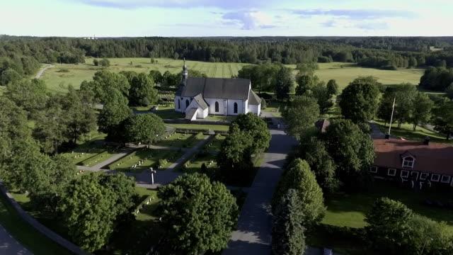 Landsbygdens scen kyrkan antenn