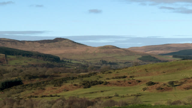 rural scottish scene on a bright sunny day - johnfscott stock videos & royalty-free footage