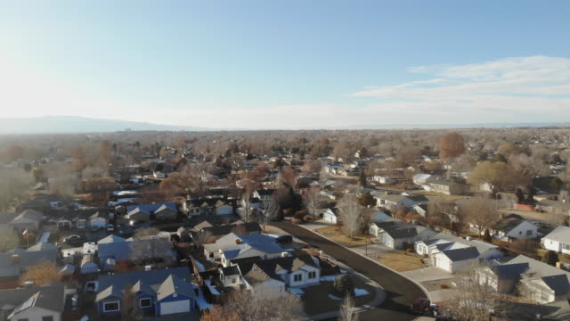 rural small town america video fly-over of neighborhoods - colorado stock videos & royalty-free footage