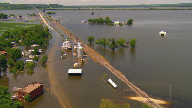 Rural town submerged in floodwaters/ Annada Missouri