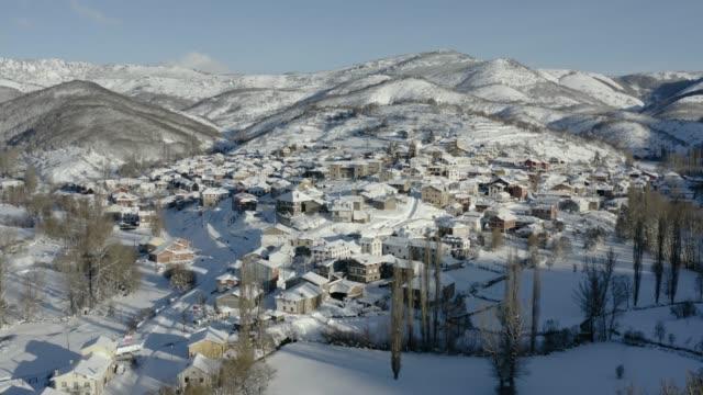 Rural village in Spain during winter