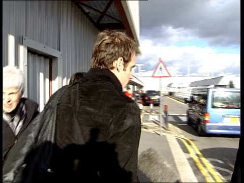 Rusedski leaves for drugs hearing ITN London Heathrow Airport Rivers approaches Greg Rusedski on his arrival at airport to fly to Montreal for drugs...