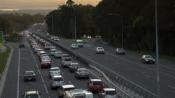Rush Hour Highway Traffic Jam - 4k