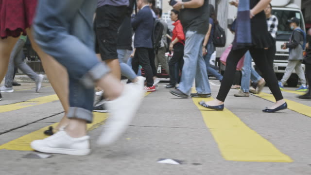 rush hour in hong kong - social issues stock videos & royalty-free footage