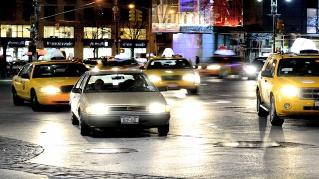 rush hour mass transit traffic, 59th street, columbus circle, upper west side, manhattan, new york city, usa time lapse: columbus circle, manhattan,... - 2013 stock videos & royalty-free footage