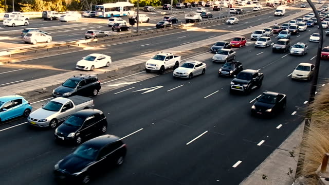 rush hour of sydney traffic - motorway stock videos & royalty-free footage