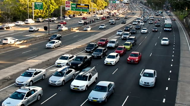 rush hour of sydney traffic - sydney stock videos & royalty-free footage