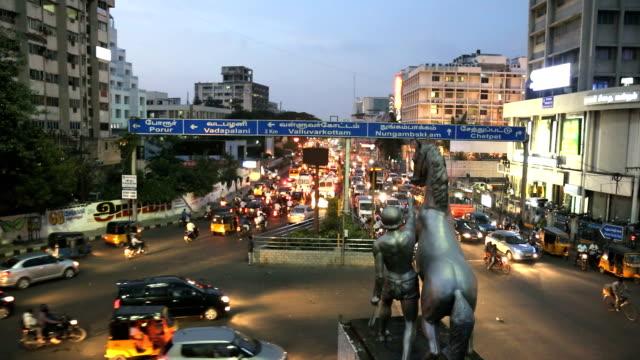 rush hour traffic commuters chennai, tamil nadu, india - chennai stock videos & royalty-free footage