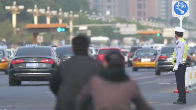 Rush hour traffic in Beijing, China