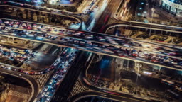 T/L HA TU Rush Hour Traffic Spirals / Beijing, China