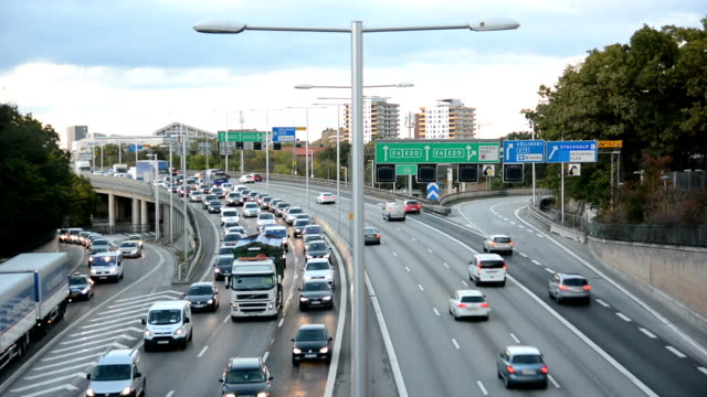 rush hour traffic - sweden stock videos & royalty-free footage