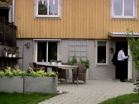 a rushed man leaving home for work sweden. - only mature men stock videos & royalty-free footage