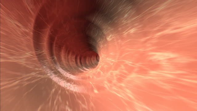 rushing through tube - biomedical illustration stock videos & royalty-free footage