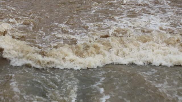 Rushing water flow.