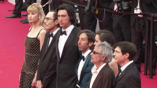 """russel mael, simon helberg, marion cotillard, director leos carax, adam driver, ron mael and angele attend the """"annette"""" screening and opening... - ceremony stock videos & royalty-free footage"""