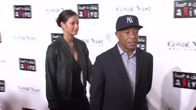 russel simmons and guest at the conde nast media group presents the 4th annual 'black ball' concert for 'keep a child alive' arrivals at the... - conde nast media group stock videos & royalty-free footage