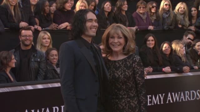 Russell Brand and mother at the 83rd Annual Academy Awards Arrivals Pool Cam at Hollywood CA