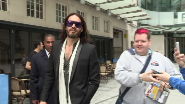 Russell Brand at Celebrity Video Sightings at Wimbledon on June 24 2013 in London England