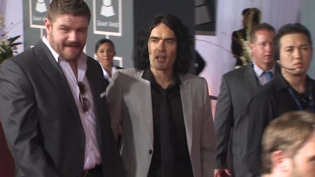 Russell Brand at the 53rd GRAMMY Awards Arrivals Part 2 at Los Angeles CA