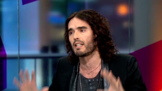 russell brand backed petition on uk drug laws brand interview sot i'm here to talk about the issue of drugs in countries where they have reformed... - climate scientist stock videos & royalty-free footage