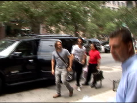 Russell Brand checks into Greenwich Hotel in Tribeca at the Celebrity Sightings in New York at New York NY